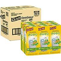 Glad Medium Quick-Tie Trash Bags - OdorShield 8 Gallon White Trash Bag, Gain Original with Febreze Freshness, 26ct, Pack…