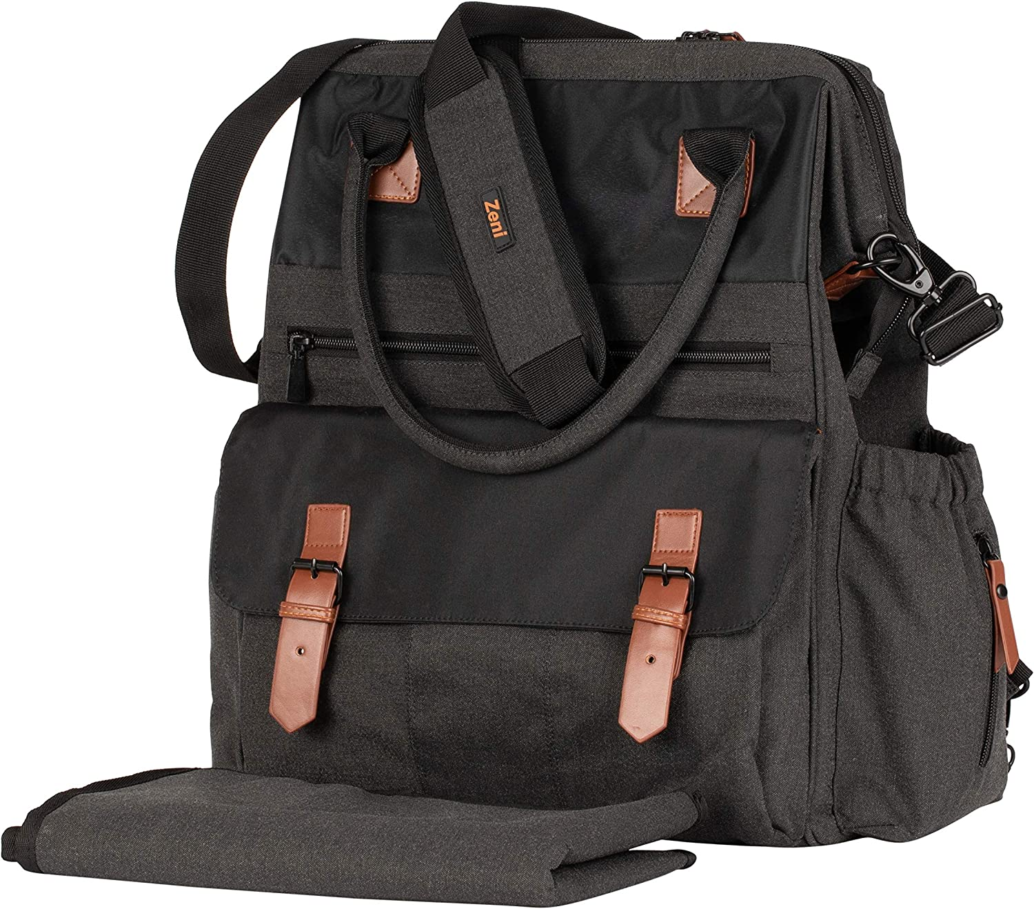 Zeni Diaper Bag Backpack with Changing Pad Multi Function