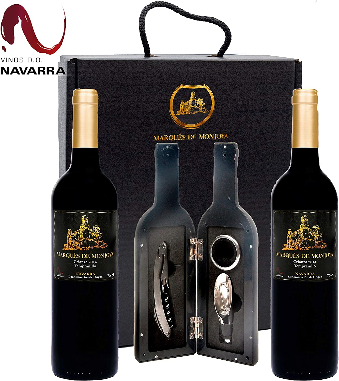 Caja de Vino Tinto - Pack de 2 Botellas con Set con sacacorchos ...