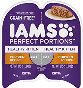 IAMS Perfect Portions Cuts in Gravy & Pate Kitten Grain Free Wet Cat Food, (24 Twin Packs)
