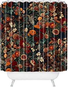 "Society6 Burcu Korkmazyurek Exotic Garden - Night XXXI Shower Curtain, 72"" x 69"", Multi"