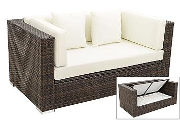 Gartensofa wetterfest  Amazon.de: OUTFLEXX 2-Sitzer Sofa Lounge aus Hochwertigem Polyrattan ...