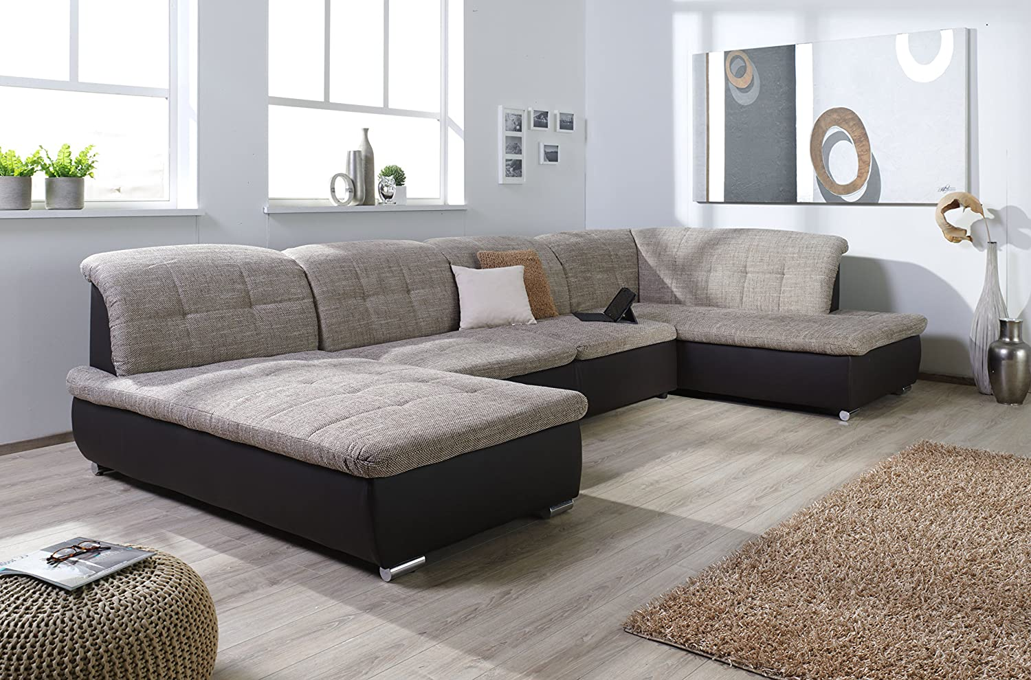 xxl couch braun beautiful xxl lounge sofa couch braun stoff in senden with xxl couch braun. Black Bedroom Furniture Sets. Home Design Ideas
