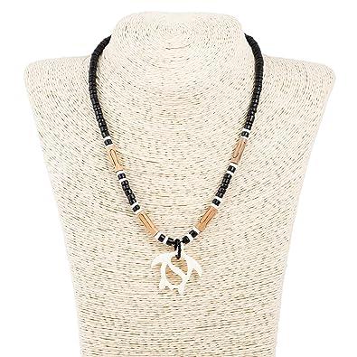 Carved bone sea turtle pendant on coco wood necklace black carved bone sea turtle pendant on coco wood necklace black amazon aloadofball Gallery