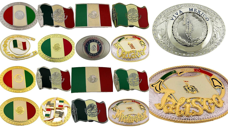 Amazon.com: Mexico Flag Belt Buckle Map Country hebilla del cinturón tierra país Vaquera vaquero (20 Pieces Wholesale Lot): Clothing