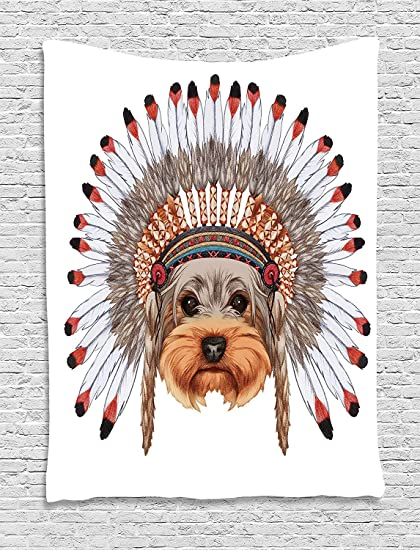 Amazon Com Asddcdfdd Yorkie Tapestry Yorkshire Terrier In War