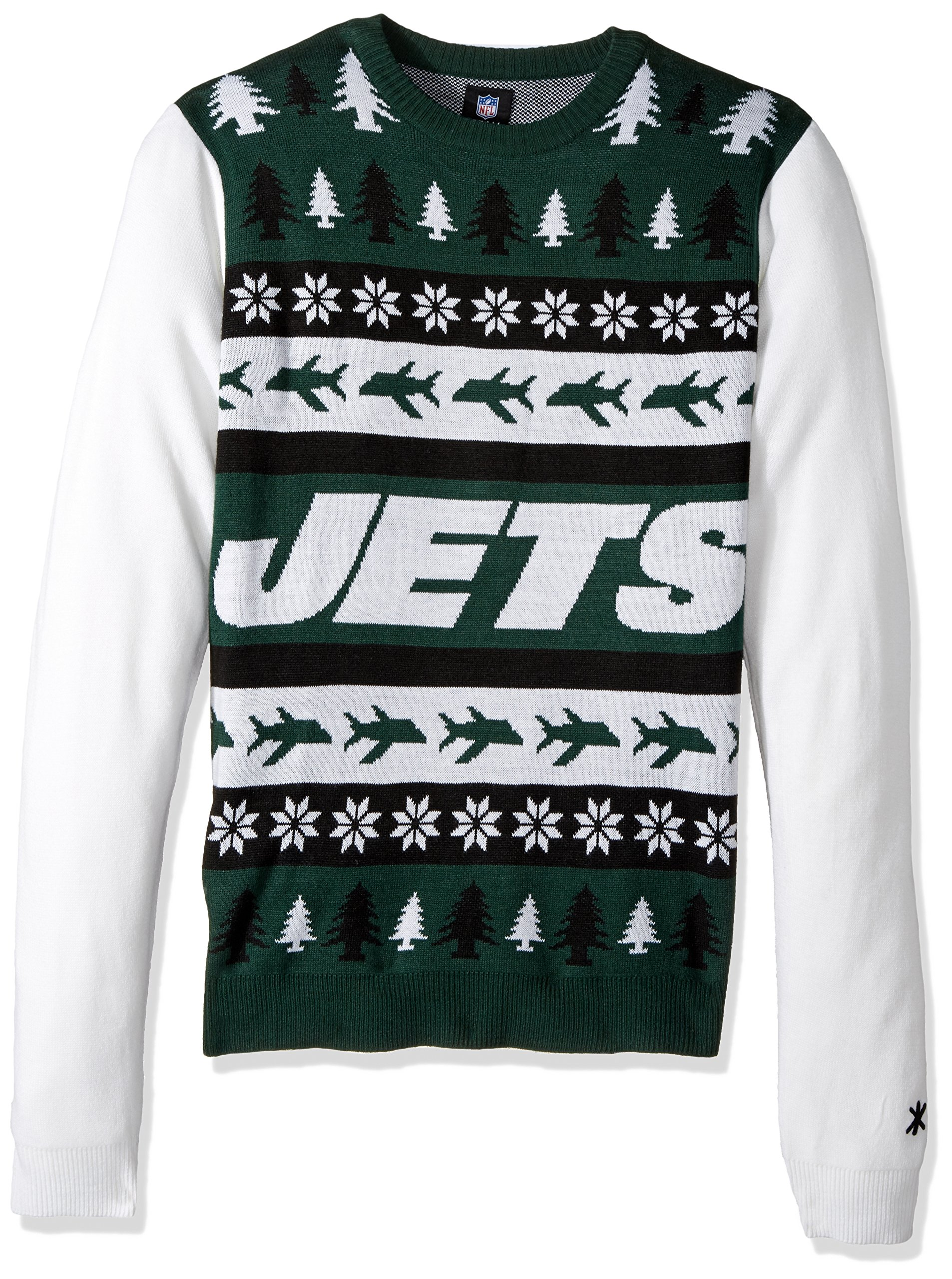 FOCO New York Jets One Too Many Ugly Sweater Large