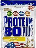 Weider Protein 80 Plus Beutel 2er Pack, Vanille, 2 x 500 g (1 x 1 kg)