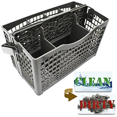 Dishwasher Silverware Replacement Basket Universal   Clean Dirty Magnet  Sign   Utensil/Cutlery Holder