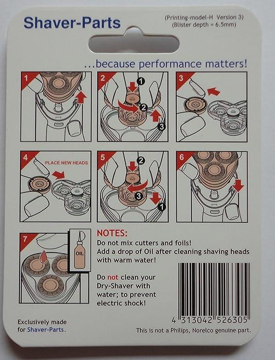 Shaver-Parts 6669000250 - Cabezal de afeitado: Amazon.es: Salud y ...