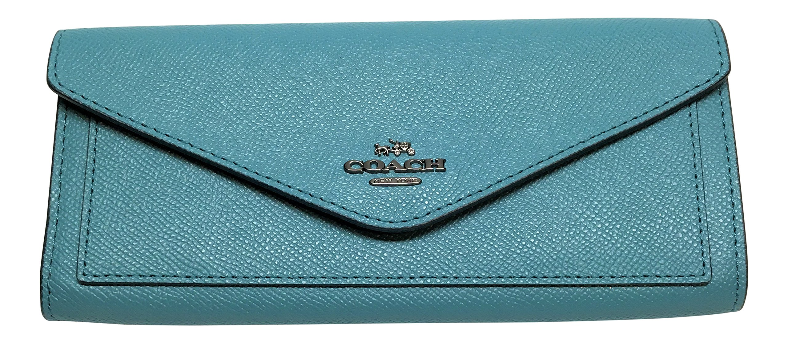 Coach Crossgrain Leather Soft Wallet Ocean 57715 by Coach