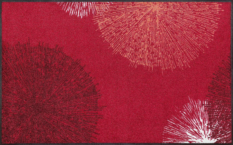 Wash+dry Fußmatte, Acryl, Rot, 75x120 cm