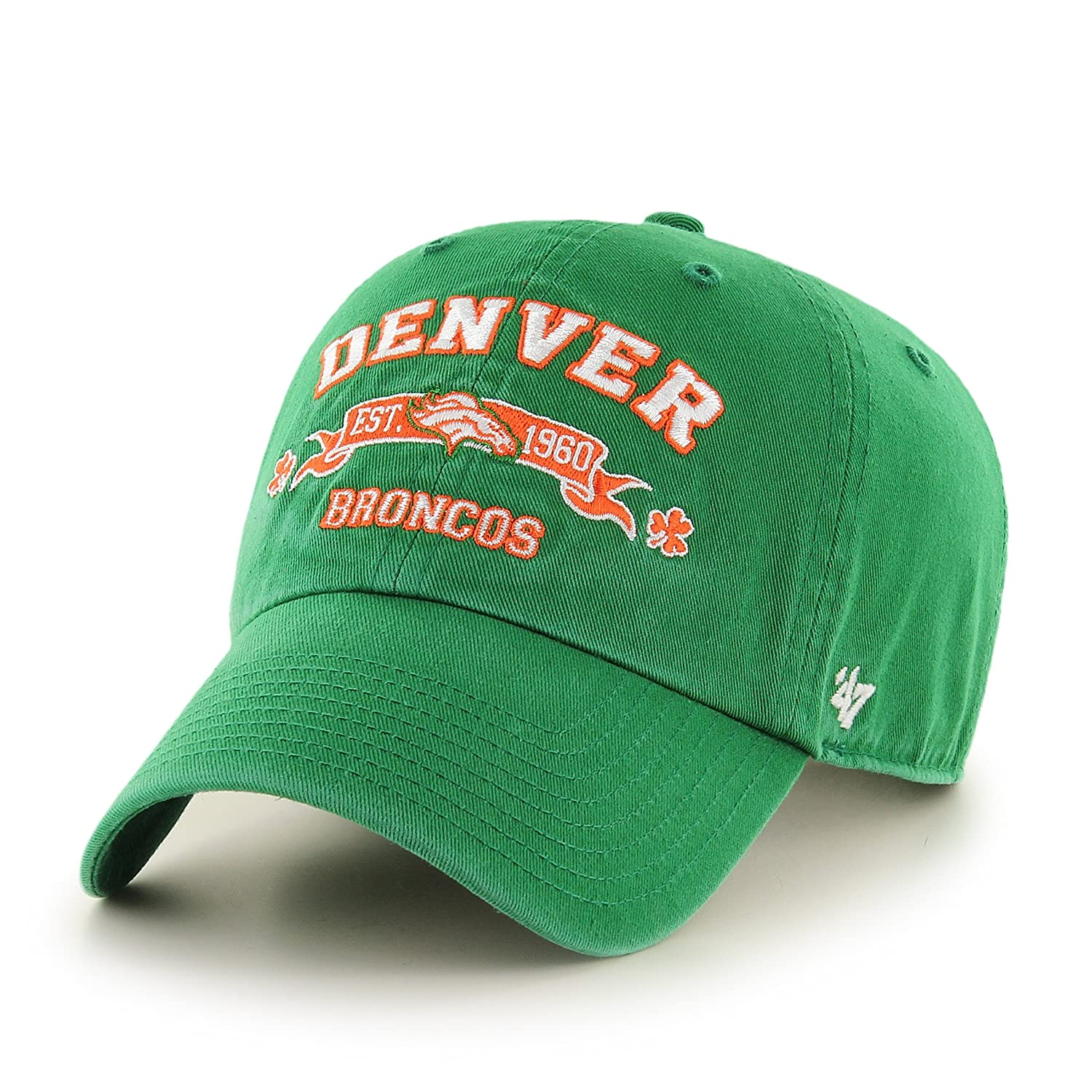 Amazon.com    47 NFL Denver Broncos Relaxed Fit Retro St. Patty s  Embroidered Cap   Sports   Outdoors 21ba3e9dc