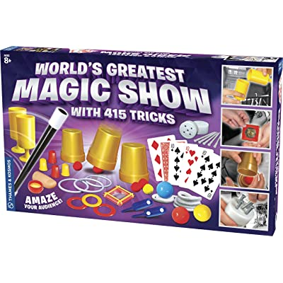 Thames & Kosmos World's Greatest Magic Show with 415 Tricks Magic Set | 60 Page Illustrated Instructions | Fun for Kids Ages 8+: Toys & Games
