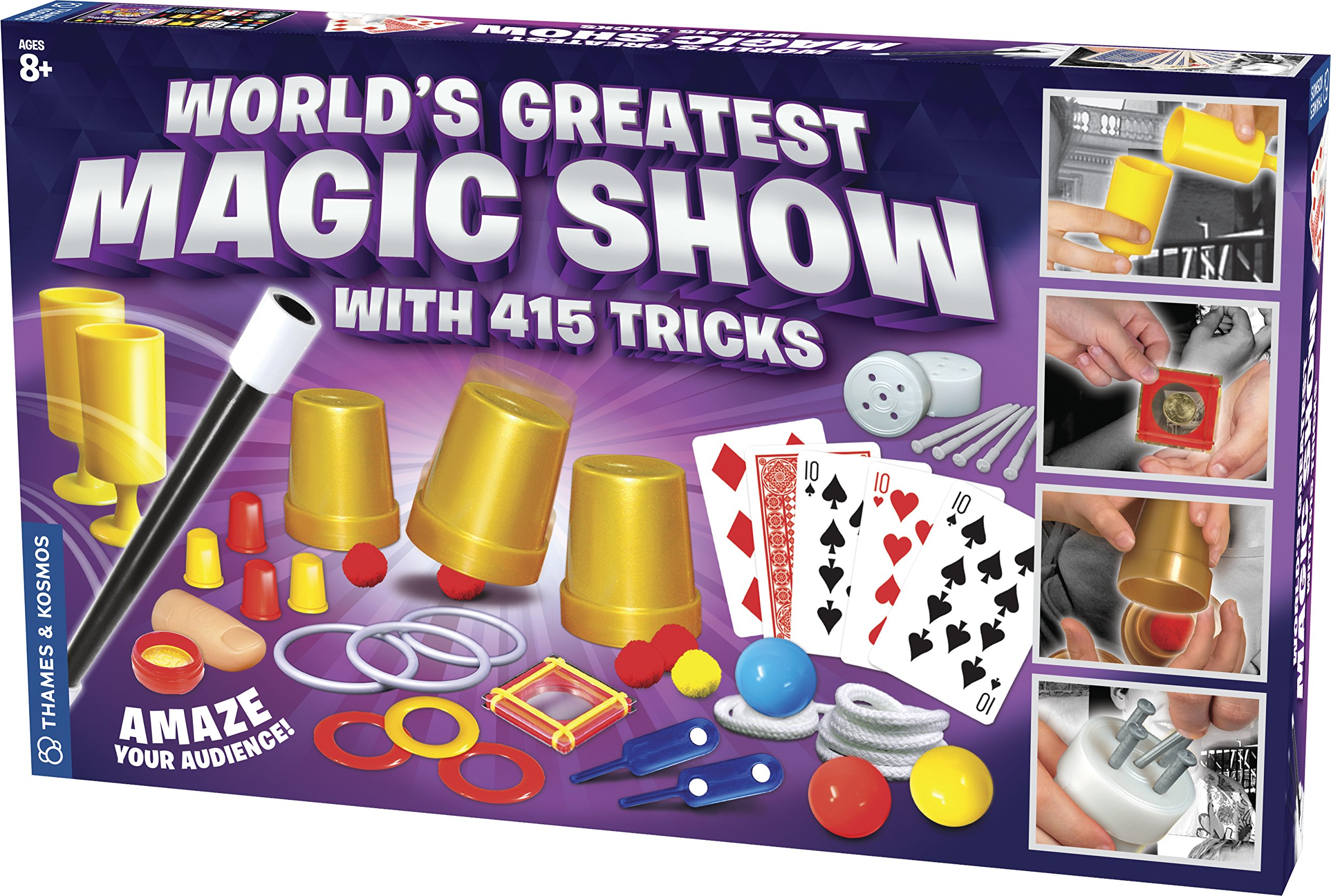 Thames & Kosmos World's Greatest Magic Show with 415 Tricks Magic Set | 60 Page Illustrated Instructions | Fun for Kids Ages 8+ by Thames & Kosmos