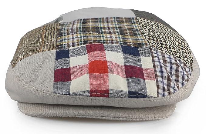 2c91513955e Men s Patchwork Multi Pattern Cotton Newsboy Ivy Cap Gatsby Snap Front Hat  (Medium