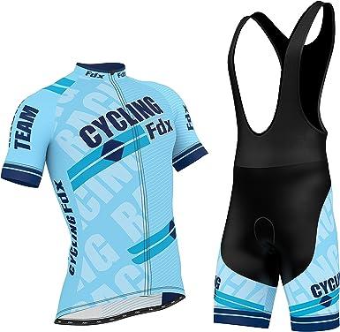 Gel Padded Bib shorts Set Mens Cycling Jersey Half Sleeve Bike Team Racing Top