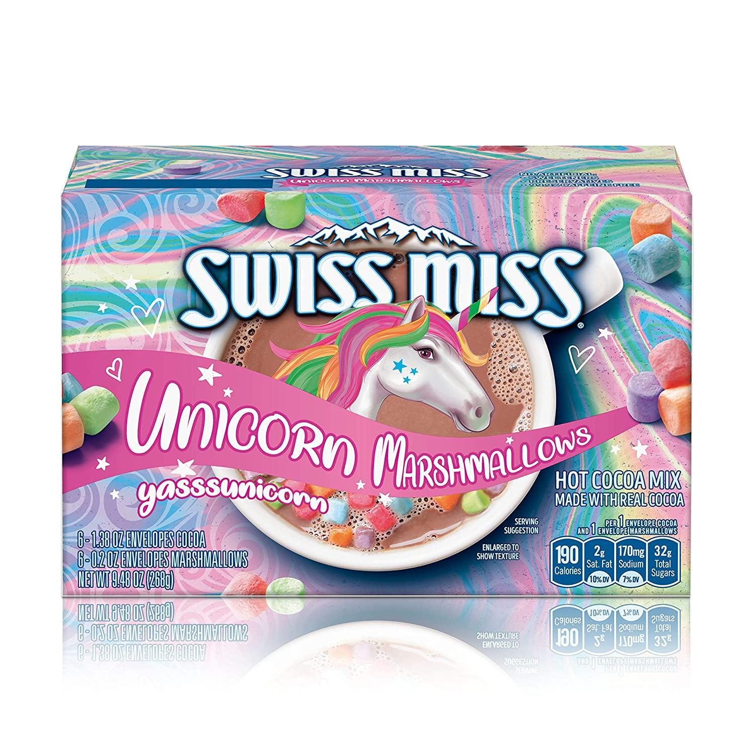 Swiss Miss Unicorn Marshmallows Hot Cocoa Mix, 1.38 oz. 6-Count (Pack of 8)