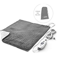"""Pure Enrichment PureRelief XXL Ultra-Wide Heating Pad for Back Pain and Cramps - Fast-Heating, Ultra-Soft Heat Therapy with 6 Temperature Settings and Auto Shut-Off Feature - 20"""" x 24"""" (Charcoal Gray)"""