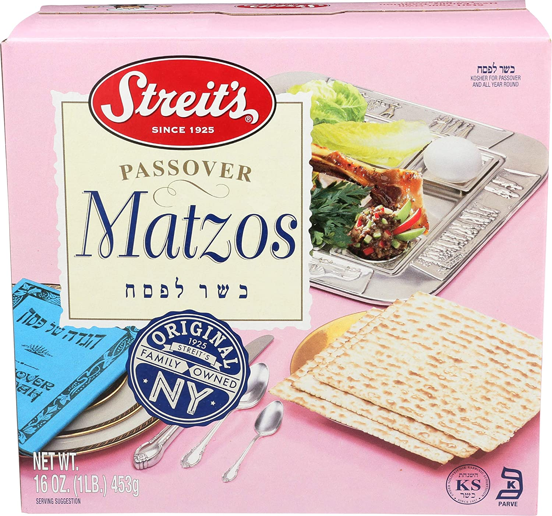 Streit's Matzo, Kosher for Passover Matzoh Crackers, Airy, Crispy Crackers, 1 Pound (1 Pound)