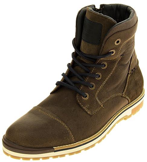 Hombre S.Oliver Botas de Cuero High-Top de Combate  Amazon.es  Zapatos y  complementos 729e65cd8d22d