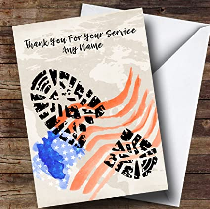 amazon com military boot print american flag personalized