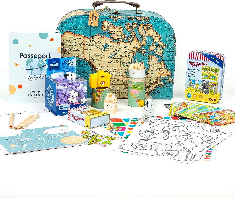 Mummy Tam - Estuche de actividades para niños de 3 años y más, caja de regalo, kit de actividades, unisex para niñas o niños, maletín de cartón 100% reciclado: Amazon.es: Equipaje