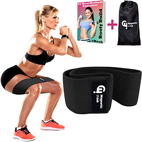 Amazon Com Magnetic Think Booty Bands Workout Resistance Hip Bands