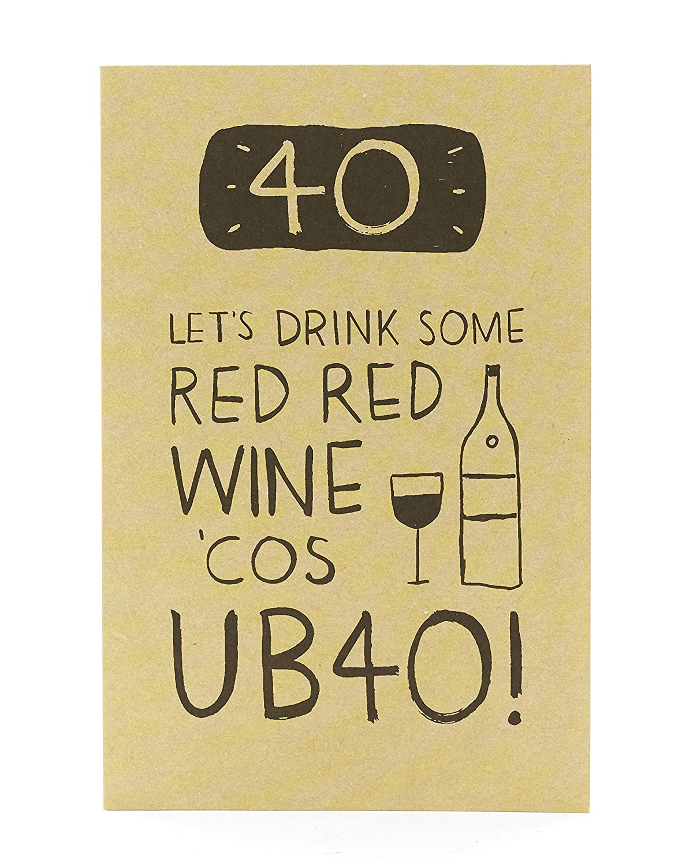 Divertida tarjeta de 40 cumpleaños - UB40!: Amazon.es ...