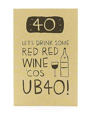 Amazon.com: 40 Let s Drink Wine cumpleaños edad 40 Humor ...