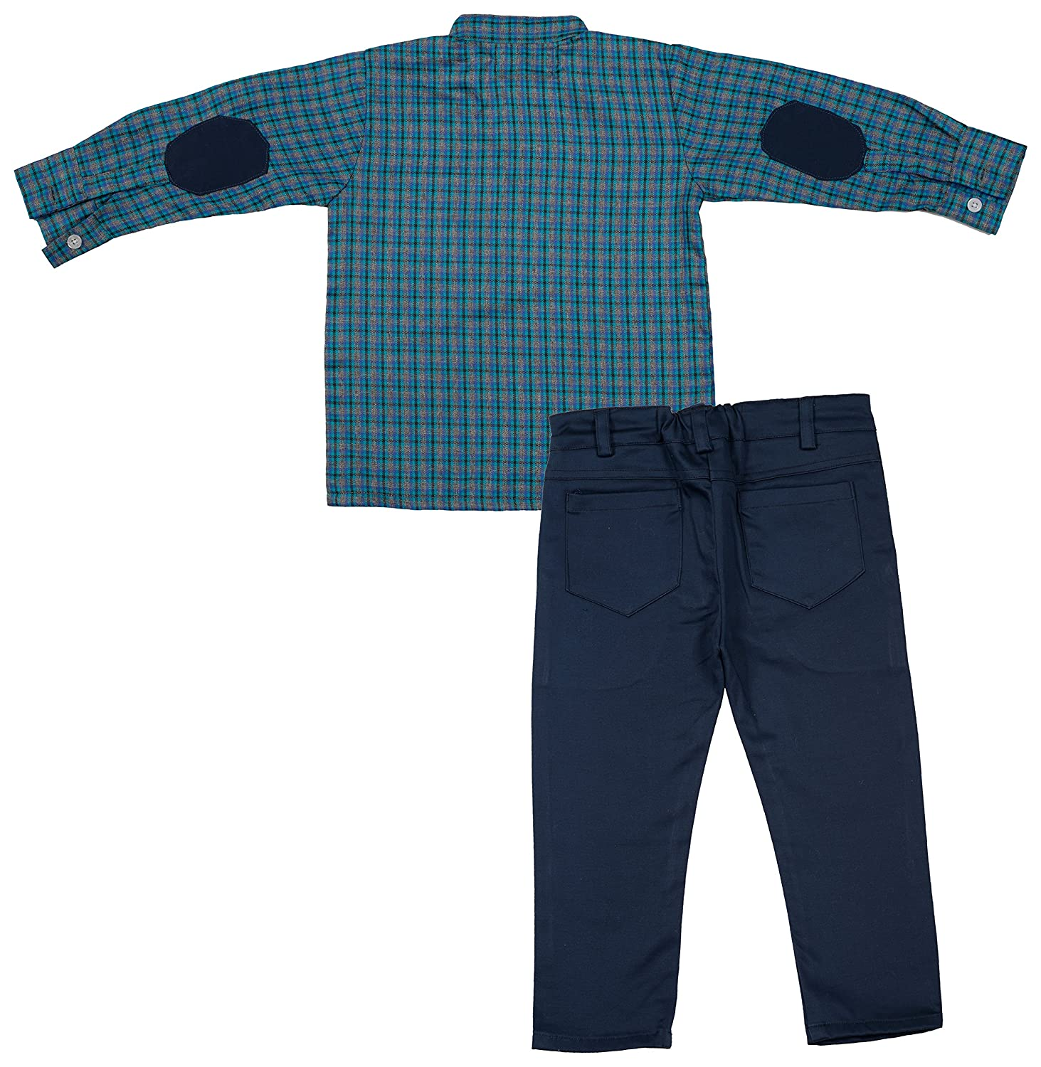 Buy Amelia S Girls Cotton Spandex Shirt And Trouser Set Aml 01