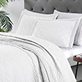EXQ Home Quilt Set Full Queen Size White 3