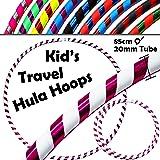 HULA HOOPS pour les ENFANTS - ULTRA-GRIP Pro KIDS TRAVEL Hula Hoops - De Pondérées Enfants Voyage Pliable Hula Hoop. Super Pour L'exercice, Danse, Fitness & Fun! (Diam:85cm, Lesté:400g)