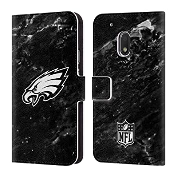 Official NFL Marble 2017/18 Philadelphia Eagles Leather Book Wallet Case Cover For Motorola Moto G4 Play: Amazon.es: Electrónica