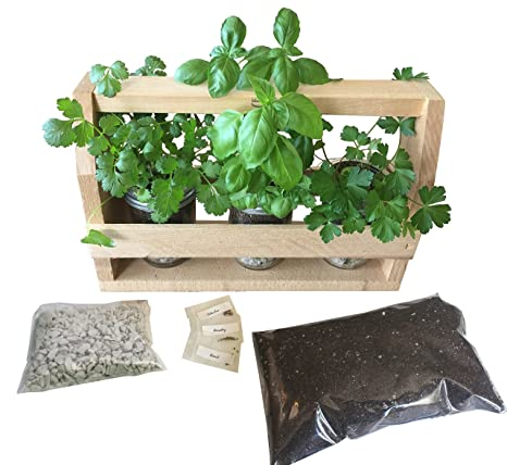 Superieur BackyardCedars Indoor Herb Garden Caddy And Kit (Natural)