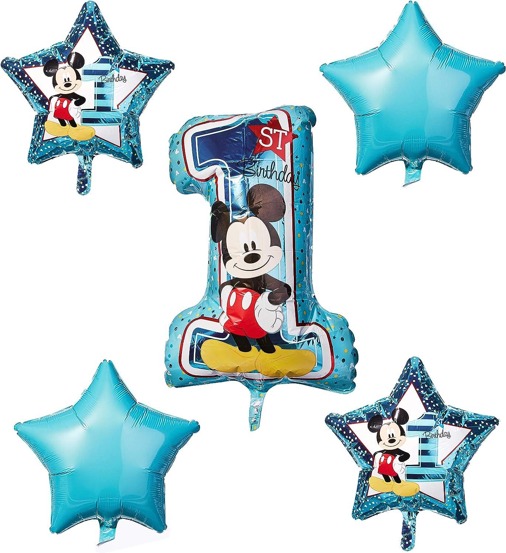 Amscan International 171833 Holders Mickey Fun One Birthday Candle Set