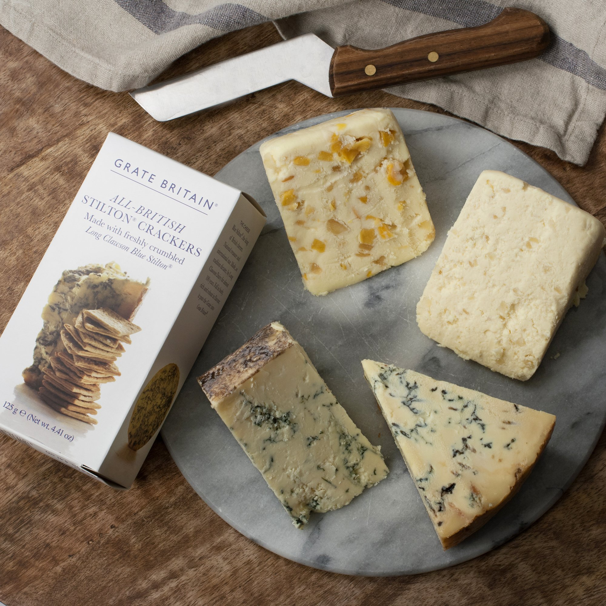 KaBloom Gift Basket Collection: Britian's Famous Stilton Cheese Gourmet Gift Box