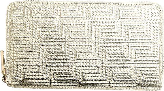 Versace 100/% Leather Gold Women/'s Wallet