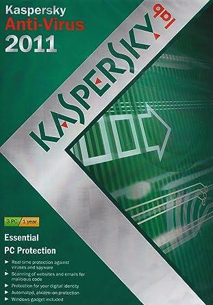 Kaspersky Lab Anti-Virus 2011 - Seguridad y antivirus (Kit de disco, 3 usuario(s), 1 Año(s), PC, 480 MB, 512 MB): Amazon.es: Software