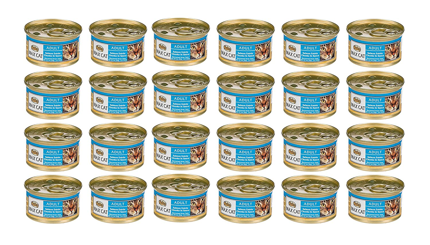 Nutro MAX CAT Salmon Entrée Gourmet Classics Adult Canned Cat Food (24 3oz Cans)