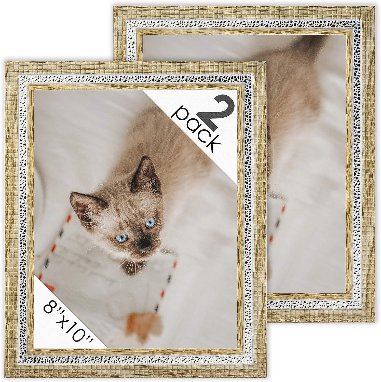 DecorRack marcos de fotos de 8 x 10 pulgadas, marco de fotos rústico para documentos, certificados, bebés, impresiones de familia, gatos y perros, para pared o escritorio, diseño de madera de roble