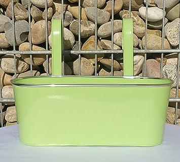 maceta verde ovalada macetero con ganchos maceta metal tambin para colgar