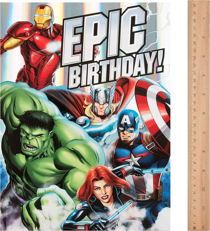 Avengers Large Epic Birthday Card Hulk Thor Iron Man Captain America Disney
