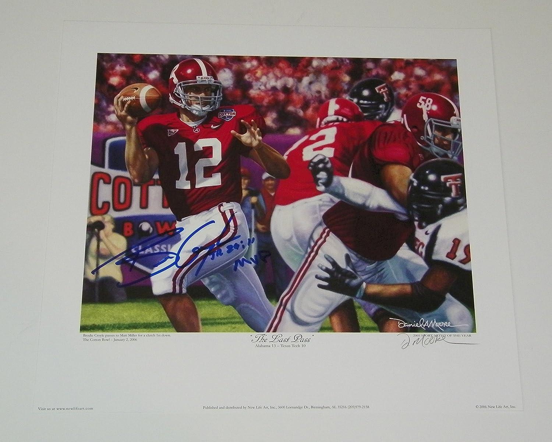 Brodie Croyle Signed Autographed Auto Alabama Crimson Tide Daniel Moore Print w/MVP - Proof