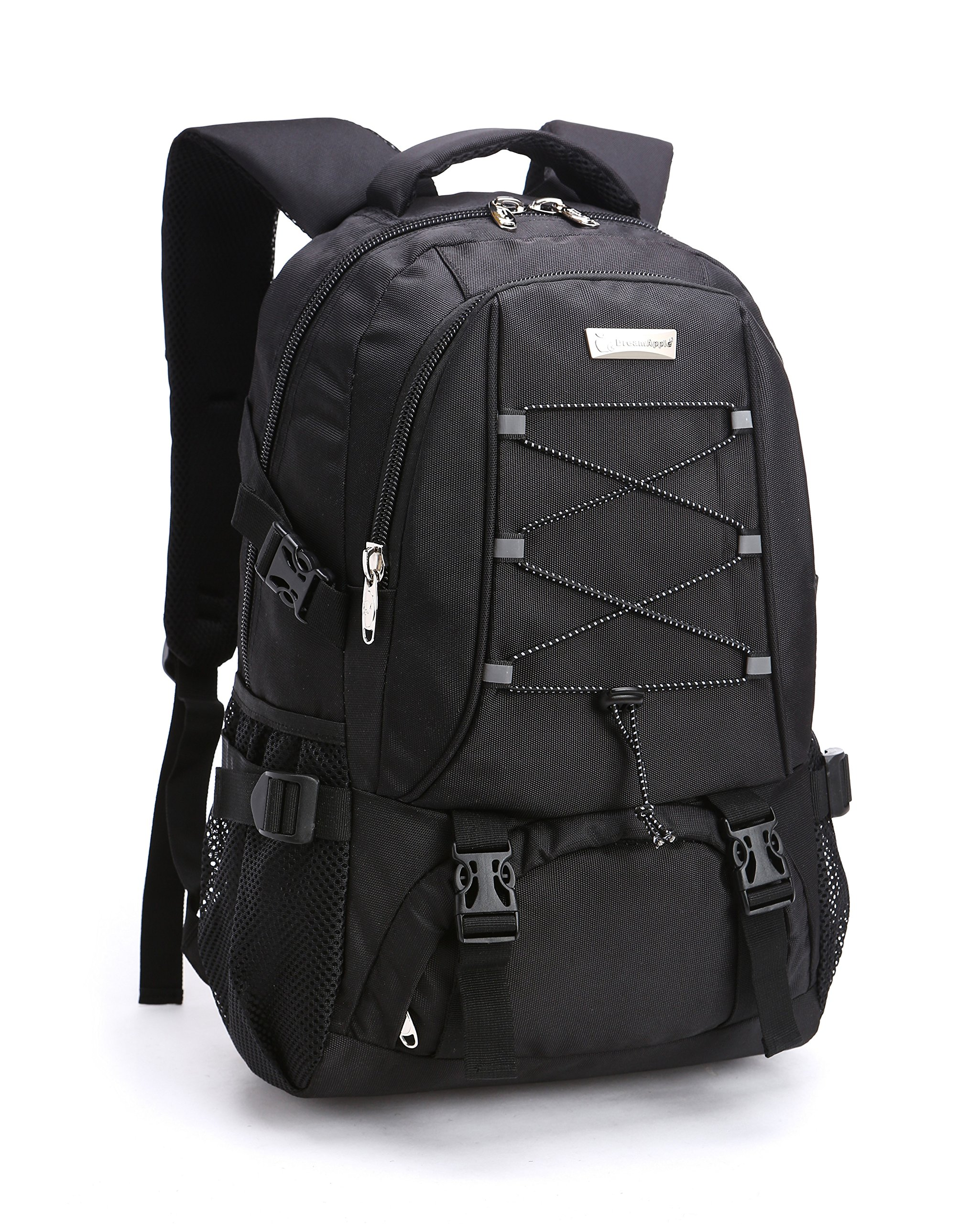 KOPD Outdoor Laptop Backpack Office Backpack Travel Computer Bag School Backpack fits 15.6 inch Laptop and Notebook to Working,School,Camping and Travel(Black)