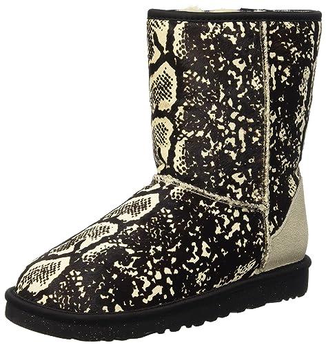 UGG Classic Short Exotic Snake, Botines para Mujer, Beige (Cream), 39 EU: Amazon.es: Zapatos y complementos