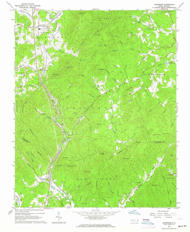 Amazon.com: North Carolina Maps - 1962 Glenwood, NC USGS ...