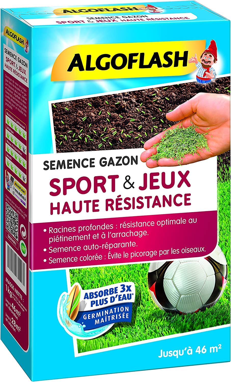 SEMHR 1 ALGOFLASH Semence Gazon Sport /& Jeu Haute R/ésistance 1 kg