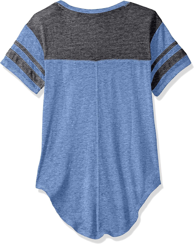 7-9 NFL by Outerstuff Juniors NFL Girls Vintage Short Sleeve Football Tee Lion Blue Medium