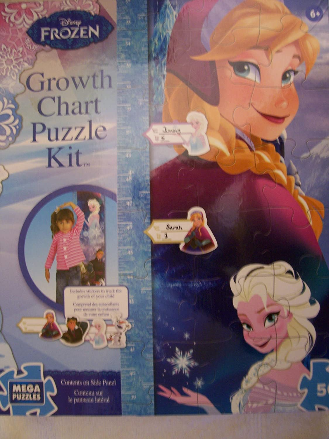 Amazon disney frozen growth chart puzzle kit by mega brands amazon disney frozen growth chart puzzle kit by mega brands toys games nvjuhfo Image collections